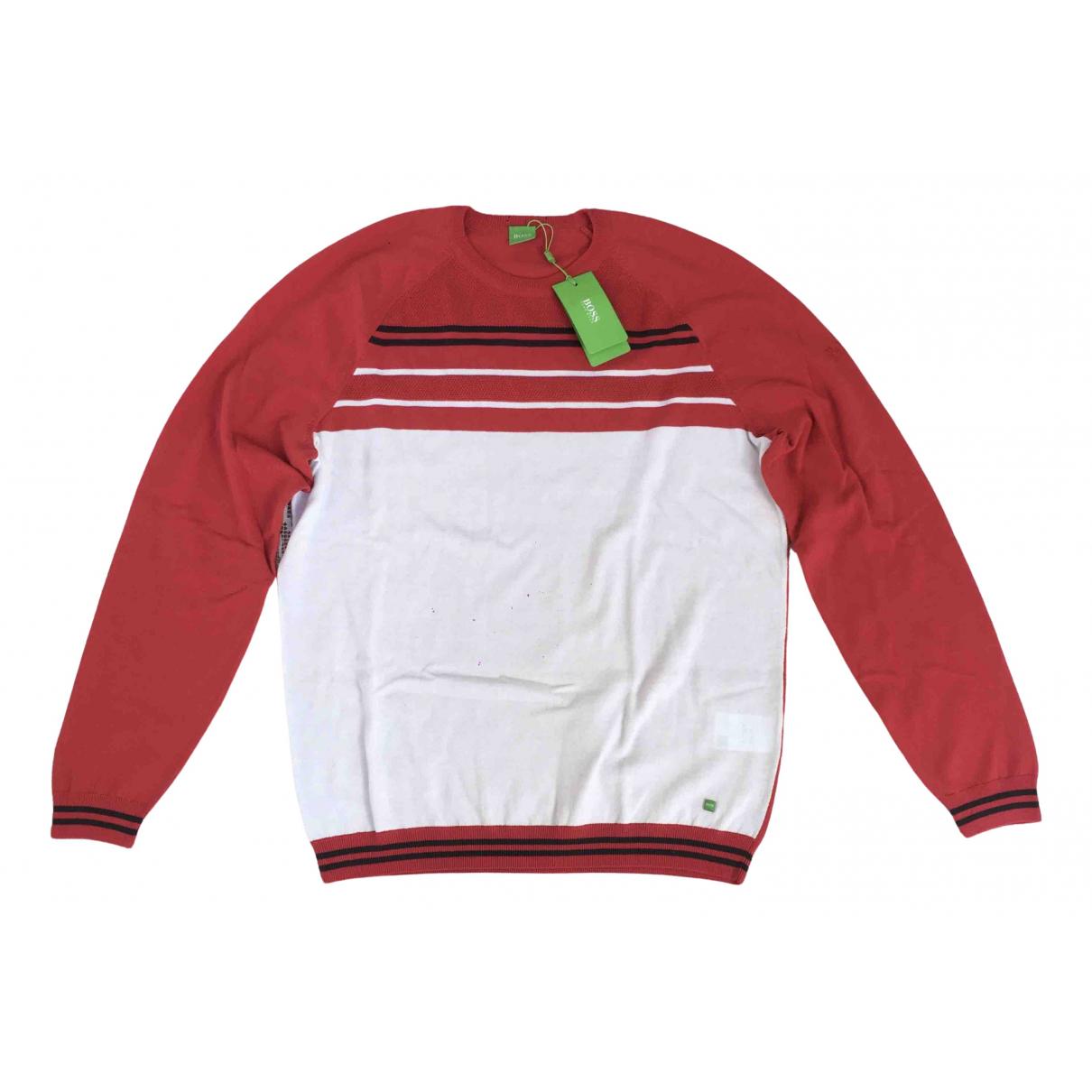 Hugo Boss - Pulls.Gilets.Sweats   pour homme en coton - rouge