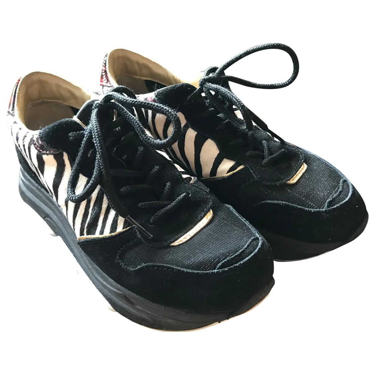 Serafini - Baskets   pour femme en cuir - noir