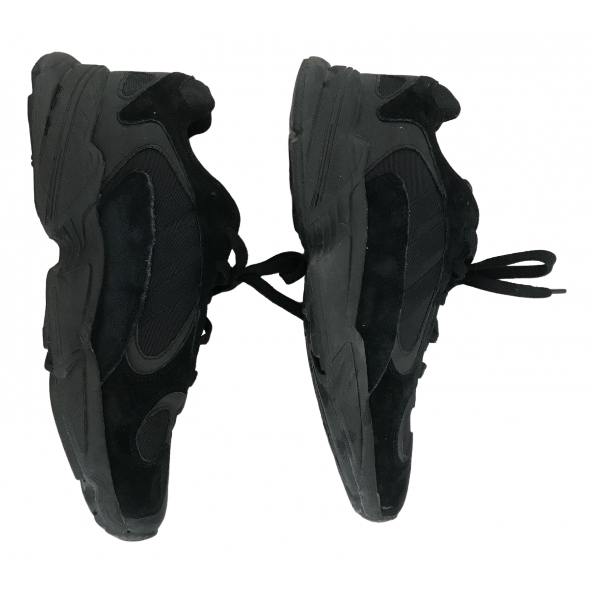 Adidas Yung-1 Sneakers in  Schwarz Leinen