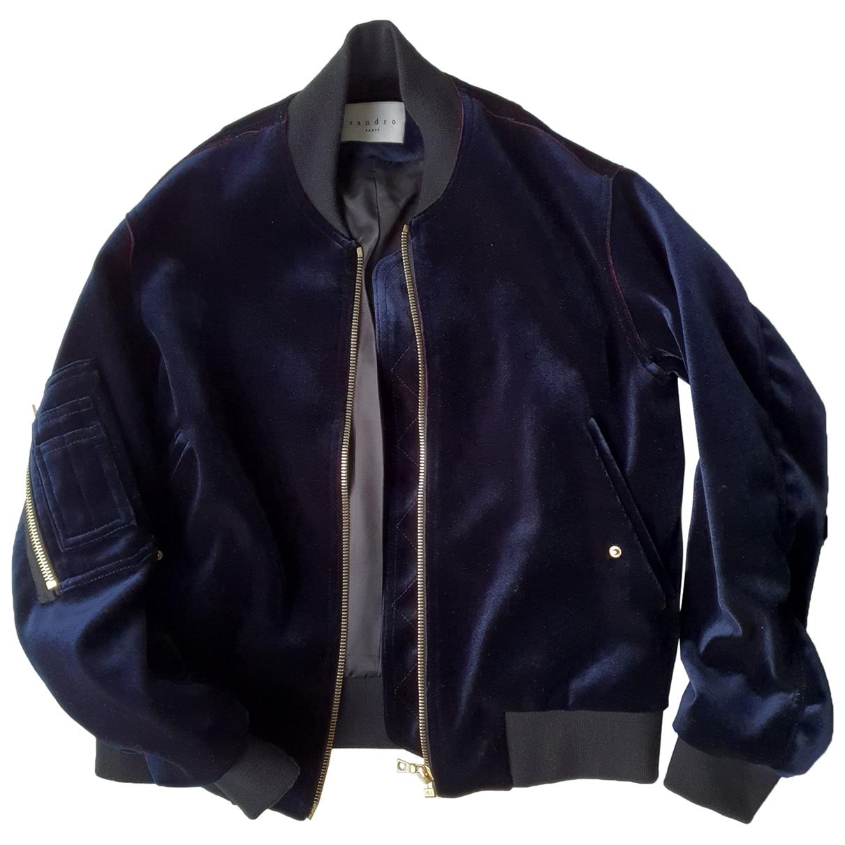 Sandro \N Blue Velvet jacket for Women 36 FR