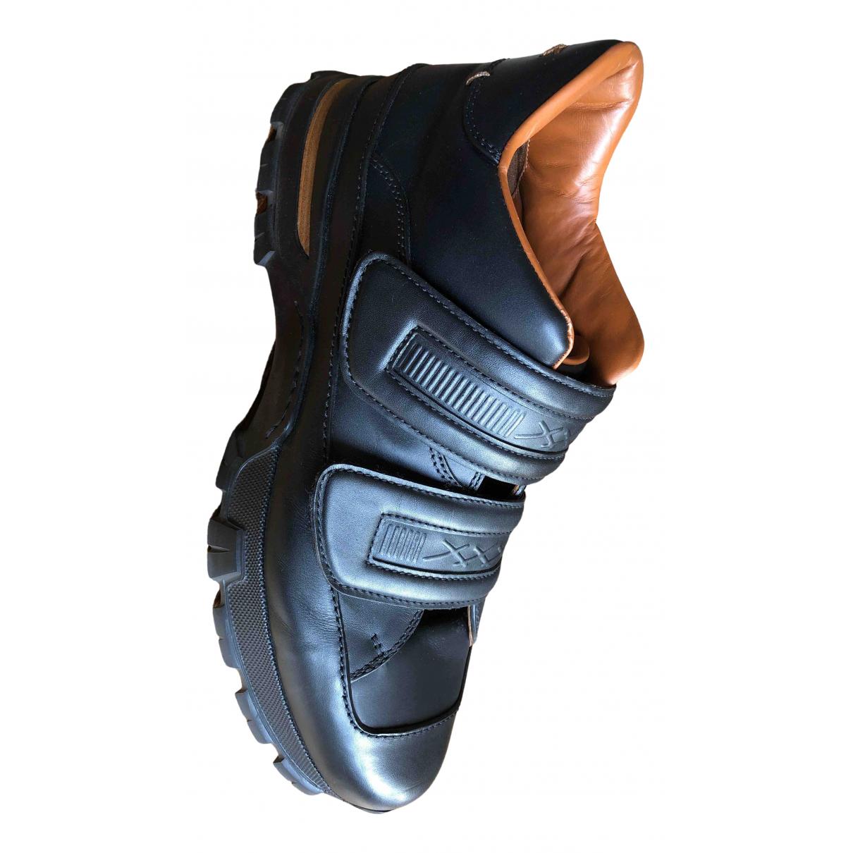 Ermenegildo Zegna \N Sneakers in  Schwarz Leder