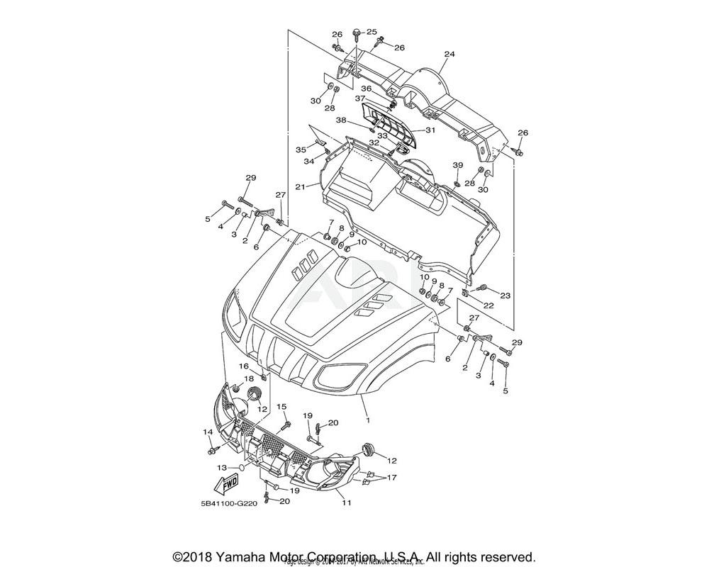 Yamaha OEM 5UG-F1510-G0-00 FRONT FENDER COMP.