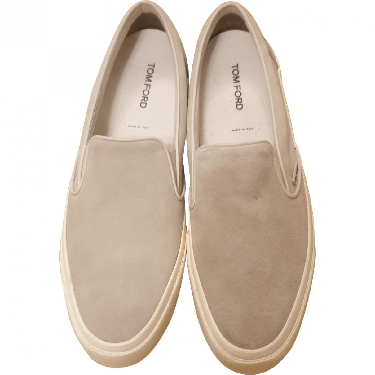 Tom Ford \N Grey Suede Flats for Men 11.5 UK