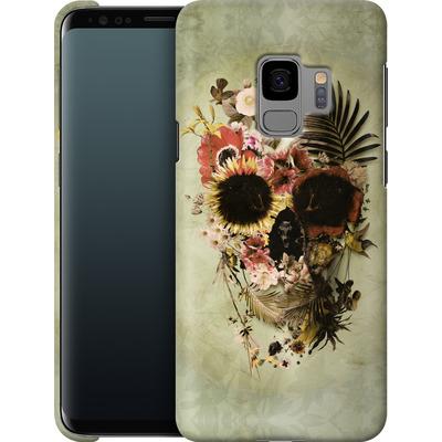 Samsung Galaxy S9 Smartphone Huelle - Garden Skull Light von Ali Gulec
