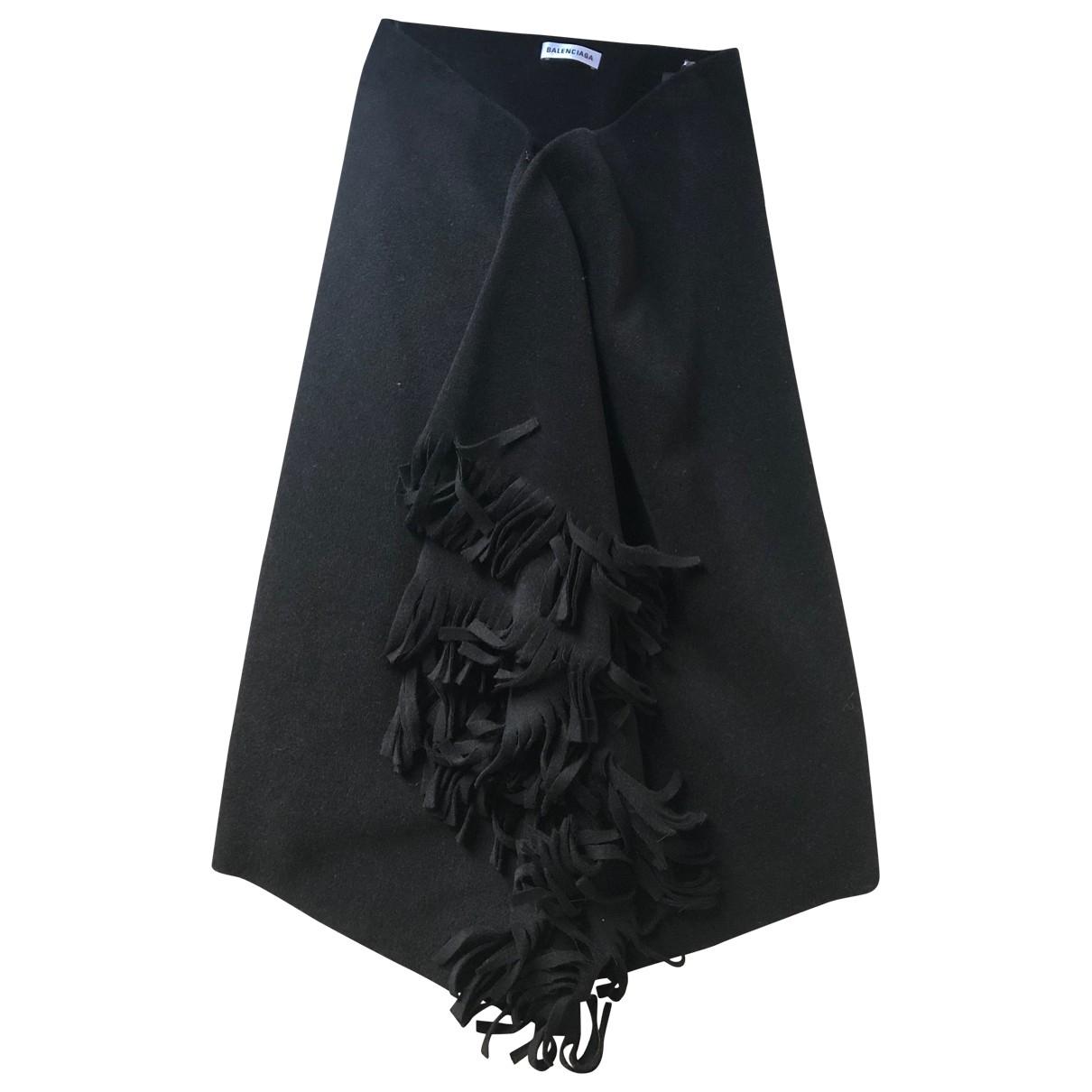 Balenciaga - Jupe   pour femme en cachemire - noir