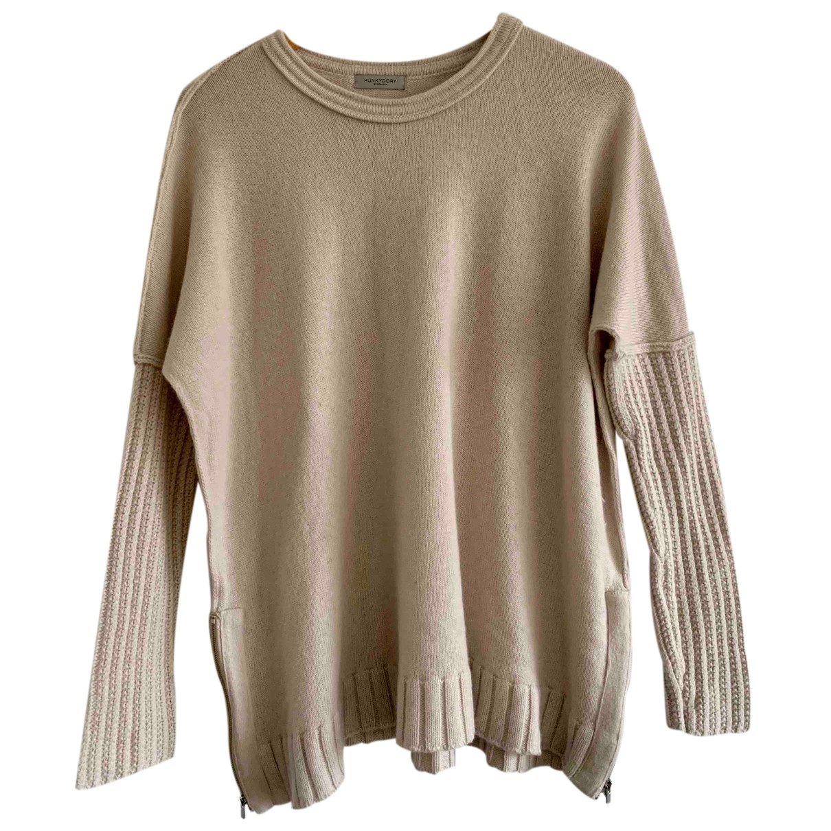 Hunky Dory - Pull   pour femme en laine - beige