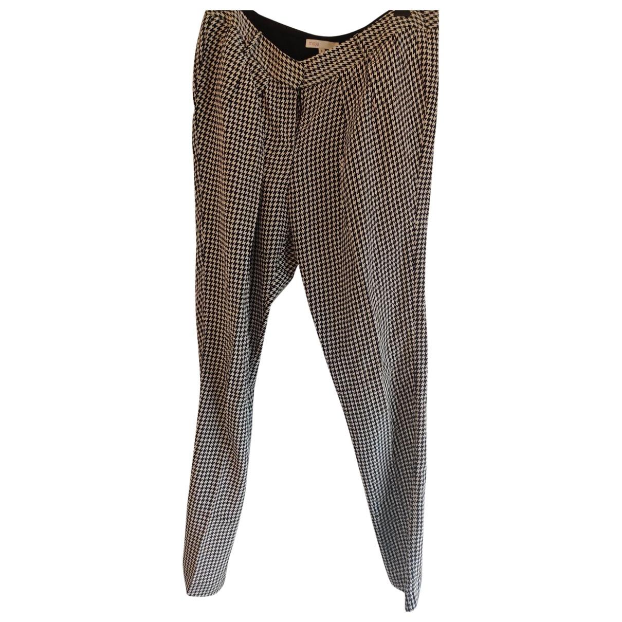 Maje \N Multicolour Silk Trousers for Women 36 FR