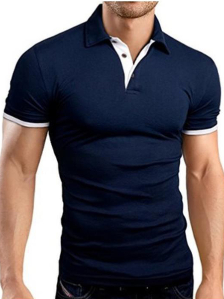 Yoins Men Summer Short Sleeved Cotton Youth Casual Popular Polos