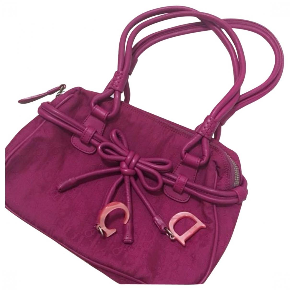 Dior Detective Handtasche in  Rosa Leinen