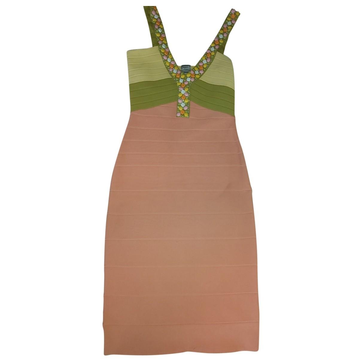 Herve Leger \N Yellow dress for Women 38 FR