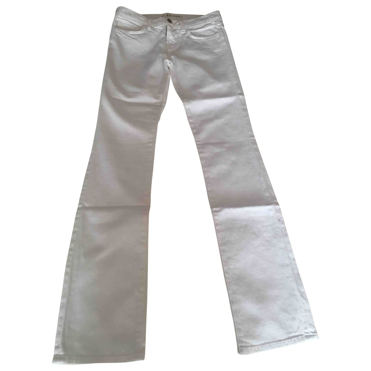 J Brand \N White Cotton Jeans for Women 26 US