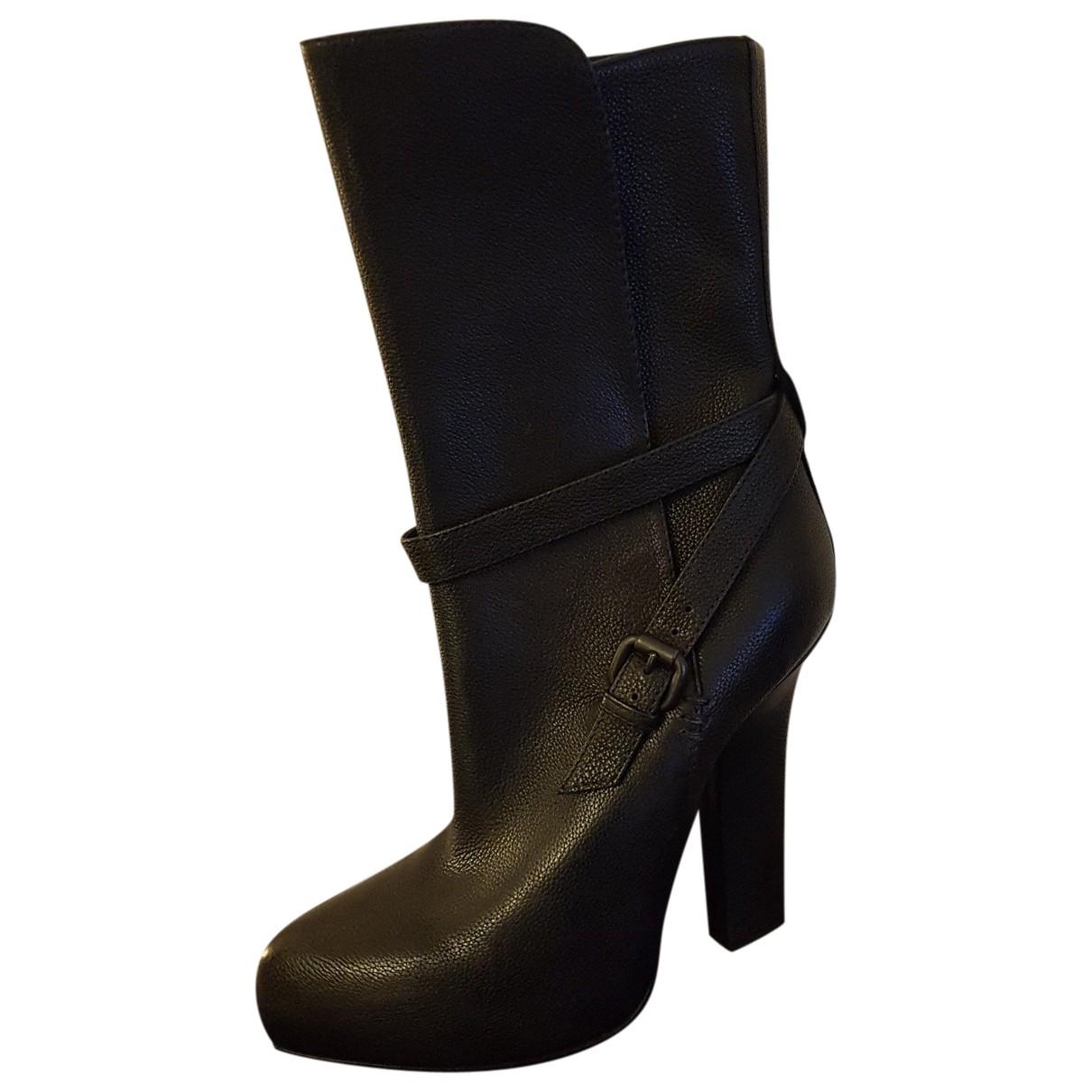 Bottega Veneta \N Black Leather Boots for Women 38 EU