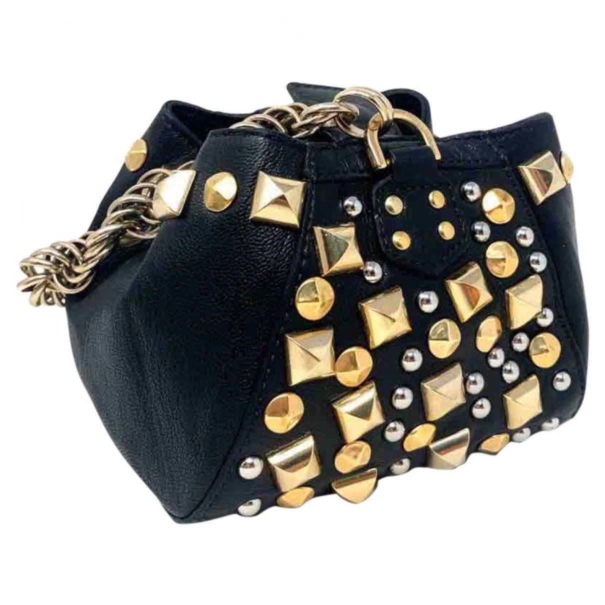Versace X H&m \N Clutch in  Schwarz Leder