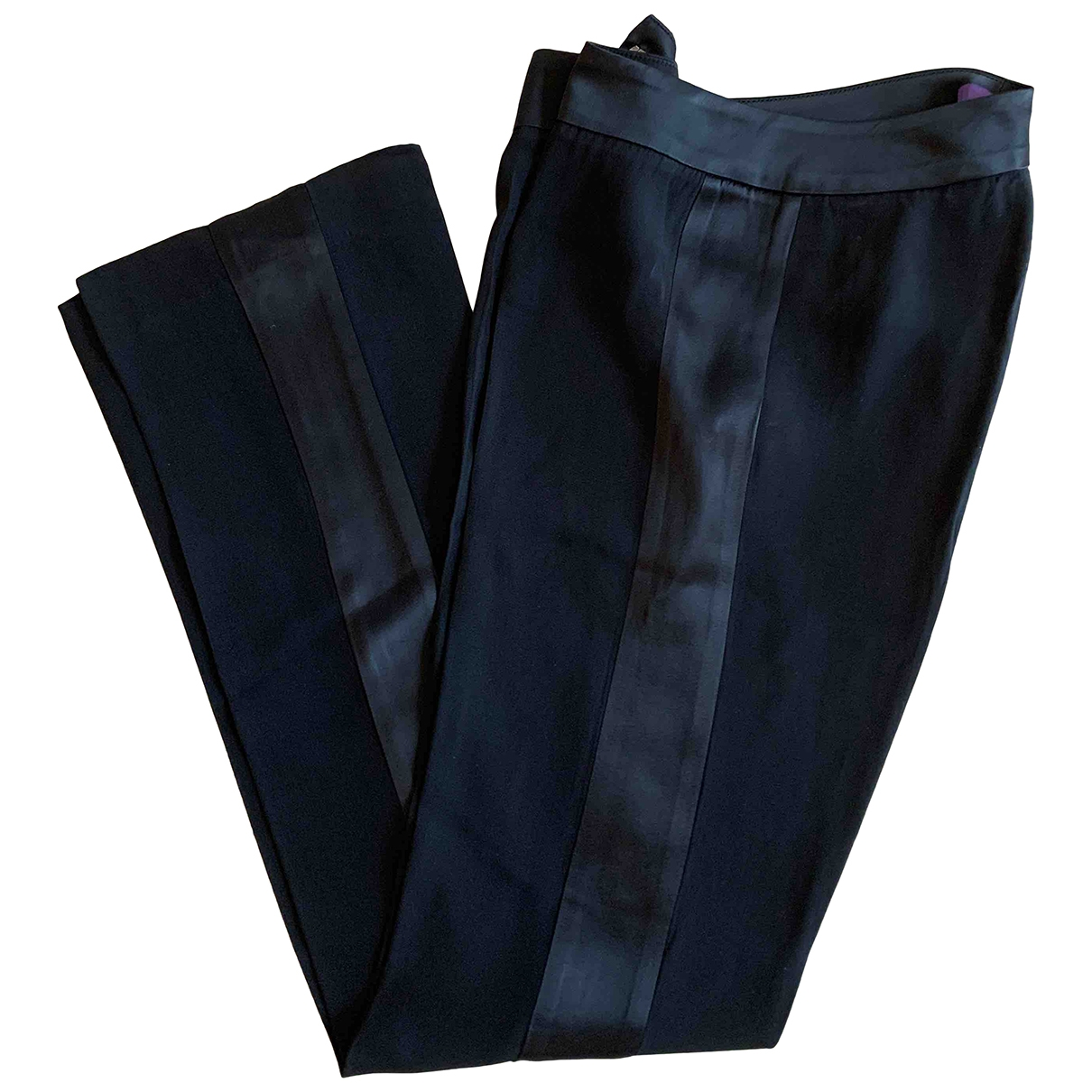 Non Signé / Unsigned Hippie Chic Black Trousers for Women 40 IT
