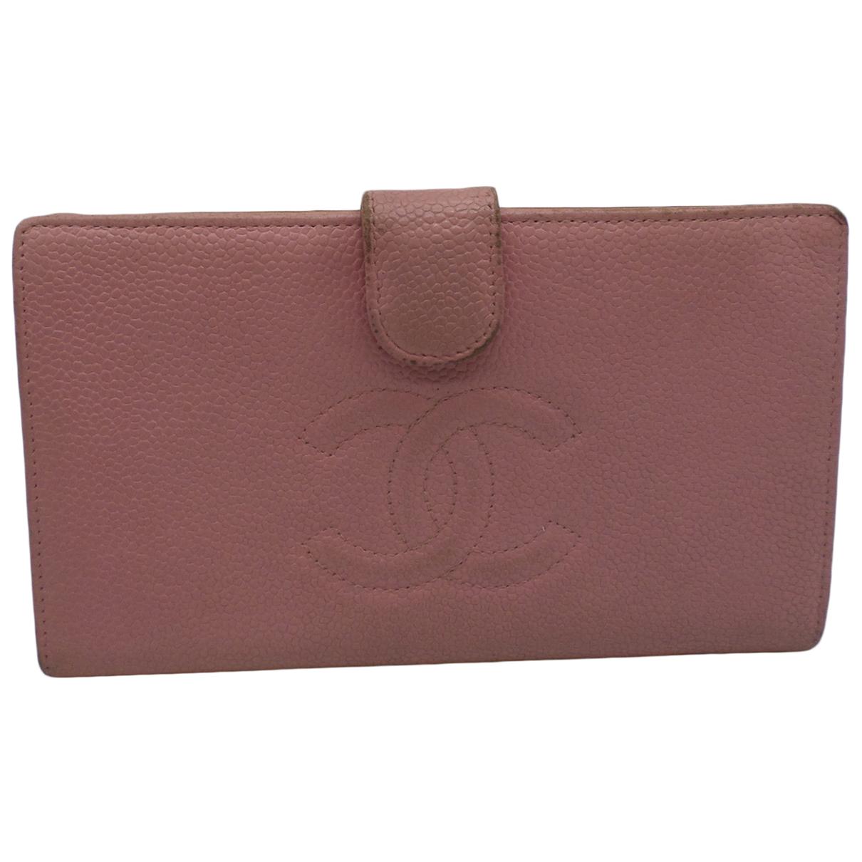 Chanel - Portefeuille Timeless/Classique pour femme en cuir - rose