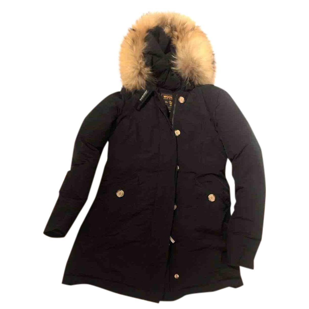 Woolrich \N Blue Cotton coat for Women XS International