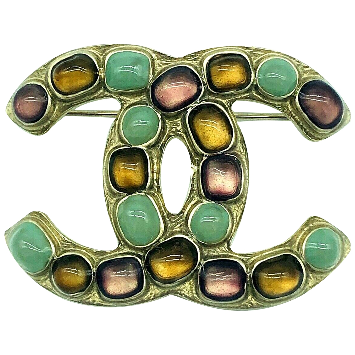 Chanel CC Green Metal Pins & brooches for Women \N