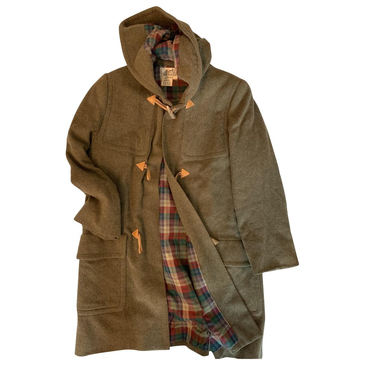 Hermes - Manteau   pour femme en laine - vert
