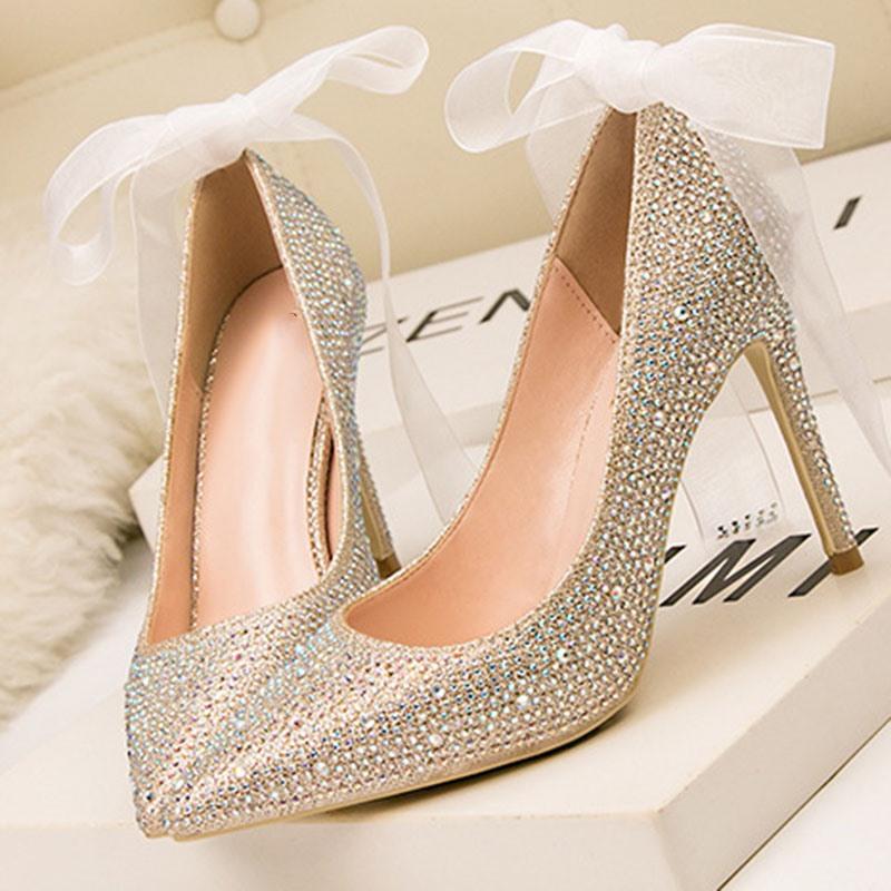 Ericdress Stiletto Heel Slip-On Bow Ultra-High Heel(≥8cm) Thin Shoes