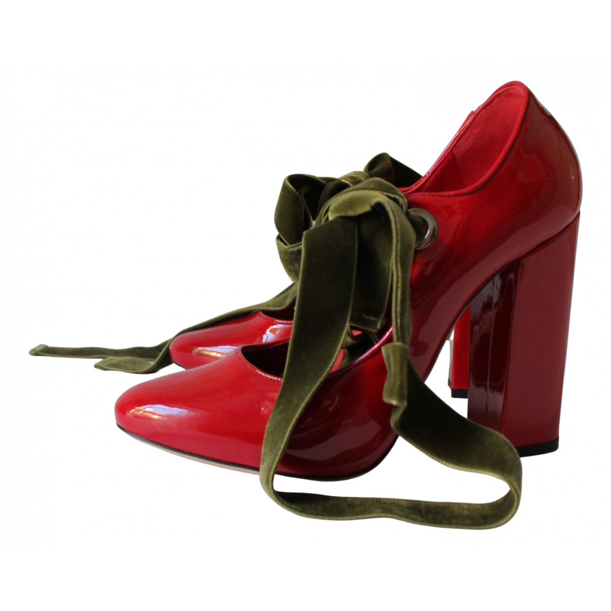 Le Silla \N Pumps in  Rot Lackleder
