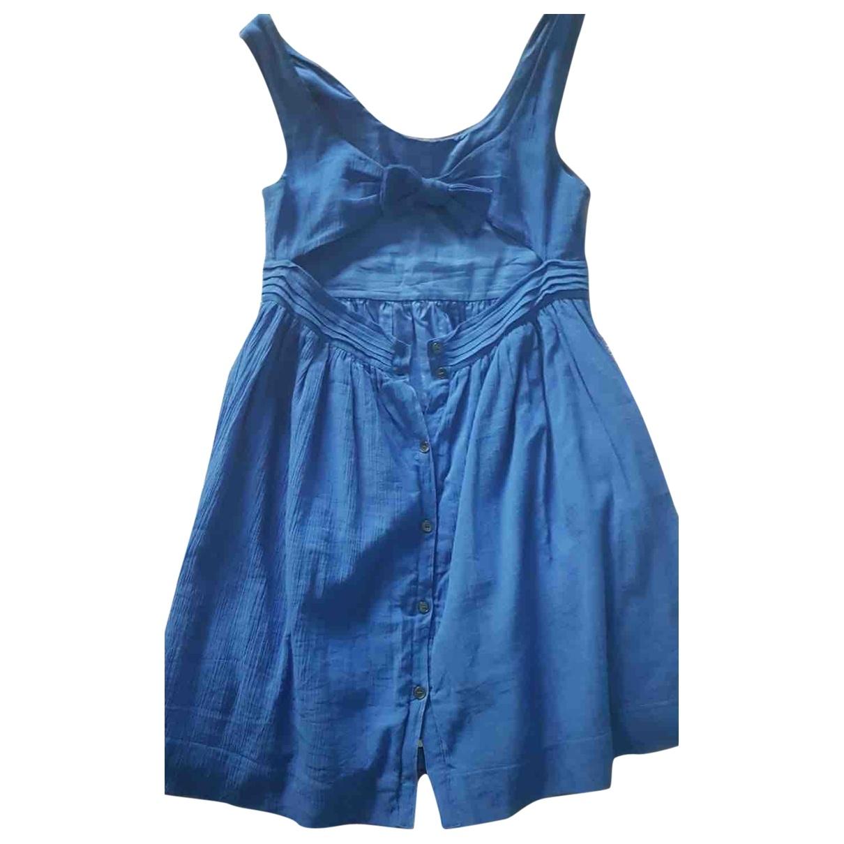 Burberry - Robe    pour enfant en coton - bleu