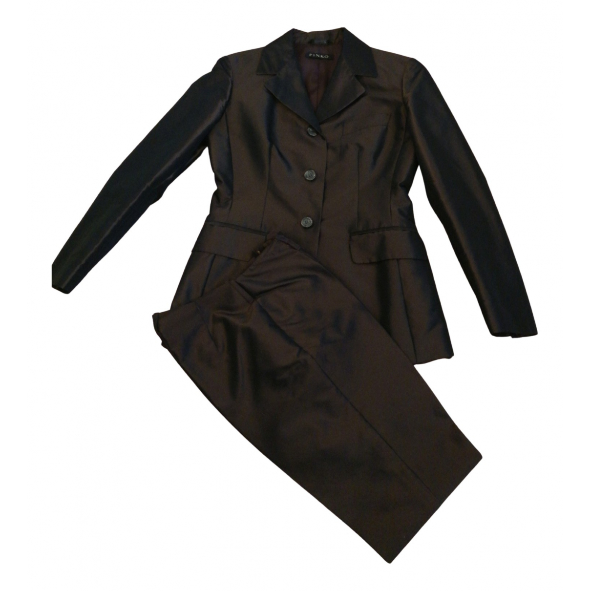 Pinko N Brown jacket for Women 40 IT
