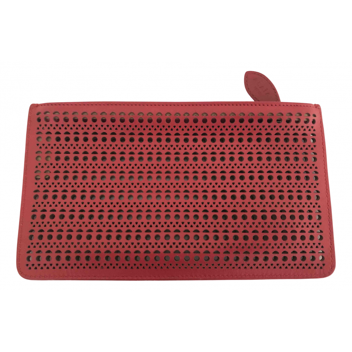 Alaia - Pochette   pour femme en cuir - rouge