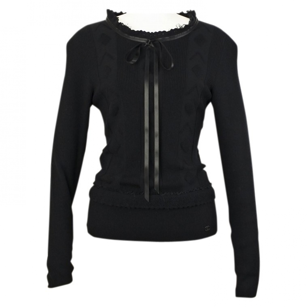 Chanel \N Black Wool  top for Women 42 FR