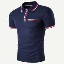 Maenner Polo Shirt mit Streifen