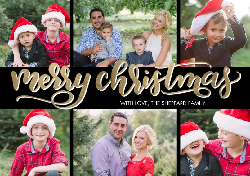 Christmas Photo Cards 5x7 Cards, Premium Cardstock 120lb with Rounded Corners, Card & Stationery -Christmas Bold Script Memories by Tumbalina