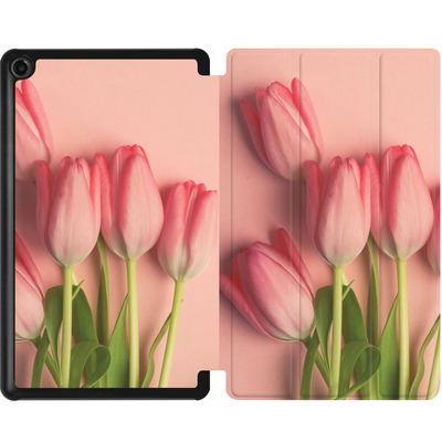 Amazon Fire 7 (2017) Tablet Smart Case - Pink Tulips von Joy StClaire