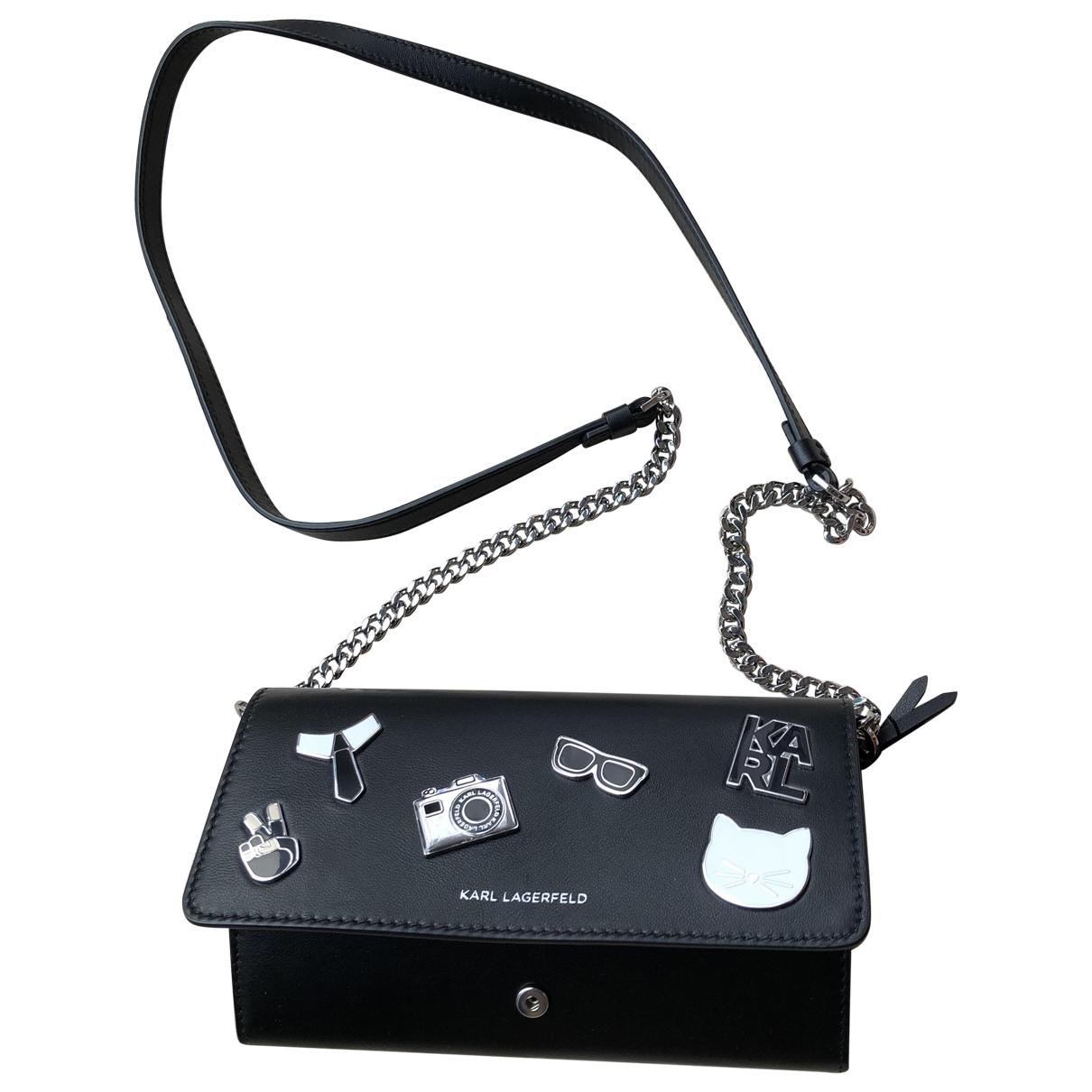 Karl Lagerfeld \N Black Leather handbag for Women \N