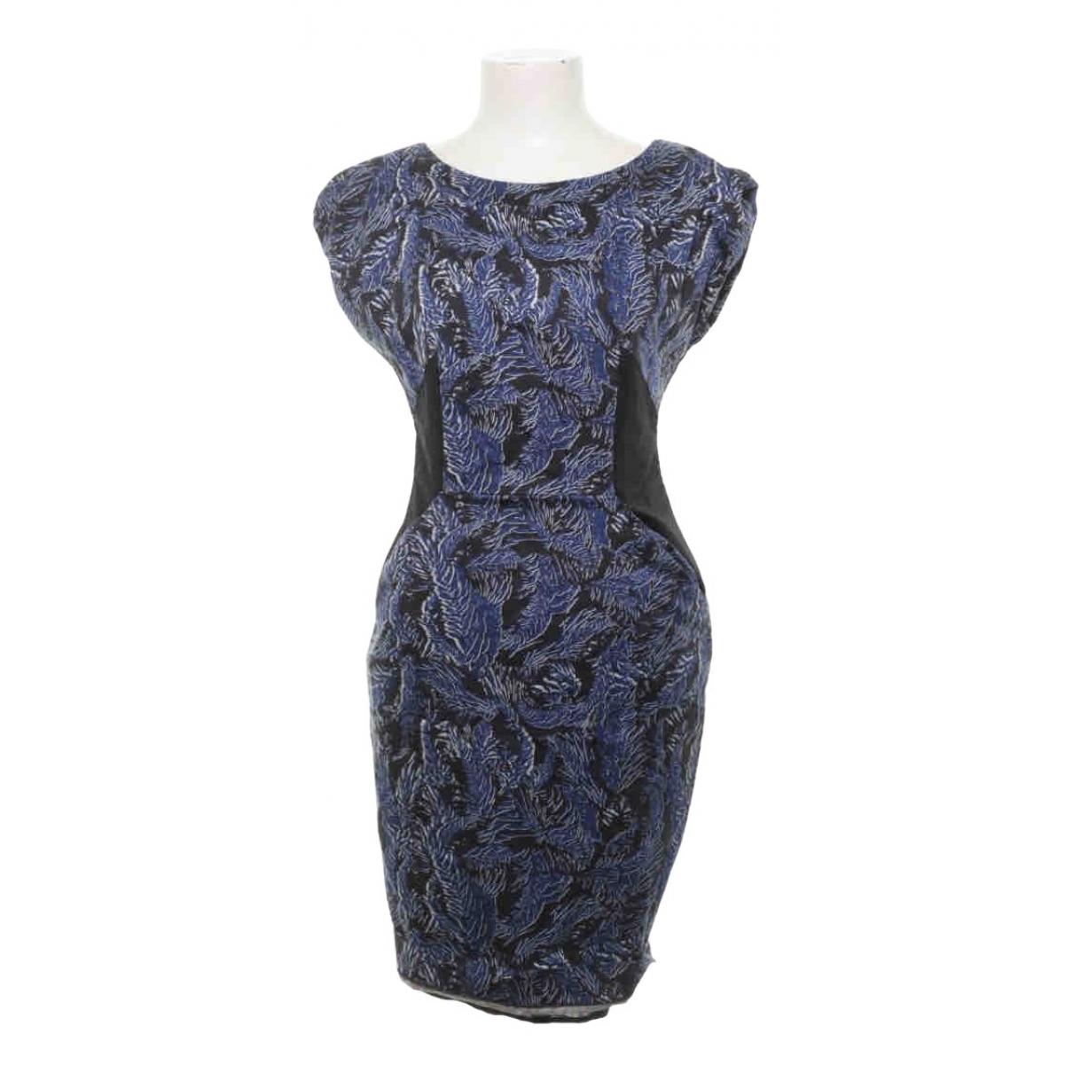 Matthew Williamson - Robe   pour femme en coton - elasthane - bleu