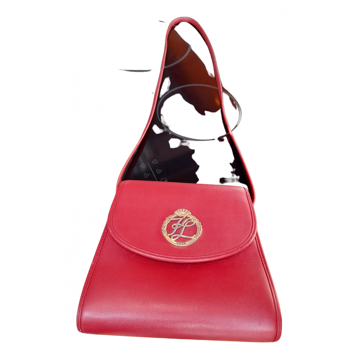 Karl Lagerfeld - Sac a main   pour femme en cuir - rouge