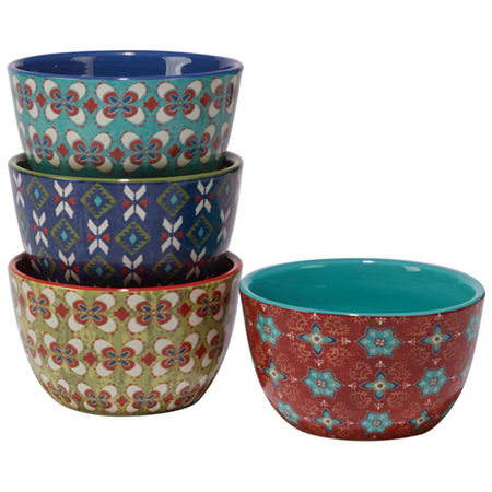 Certified International Monterrey 4-pc. Ice Cream Bowl, One Size , Multiple Colors
