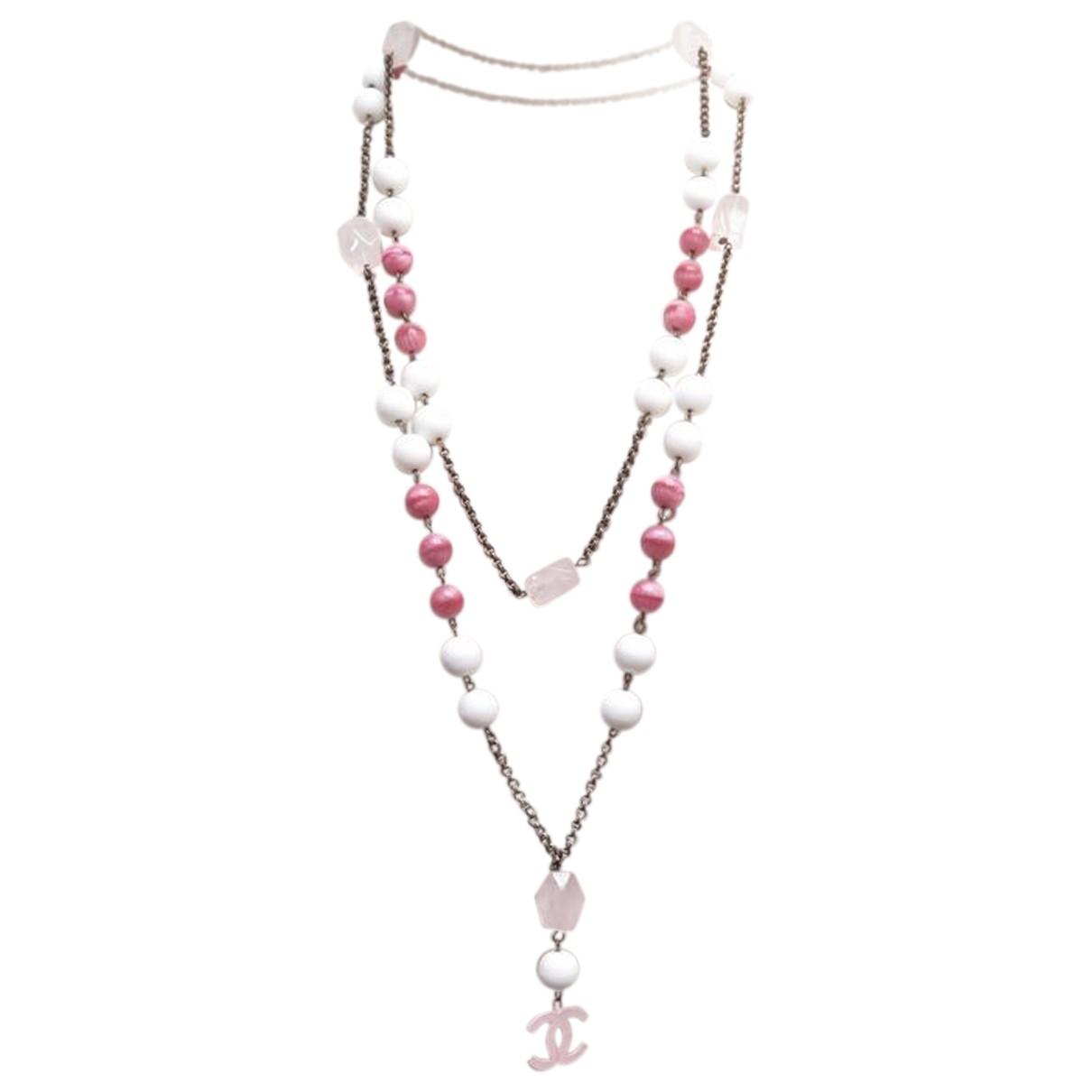 Chanel - Collier   pour femme en metal - rose