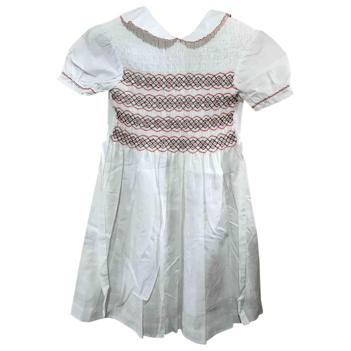 Non Signe / Unsigned \N Kleid in  Weiss Leinen