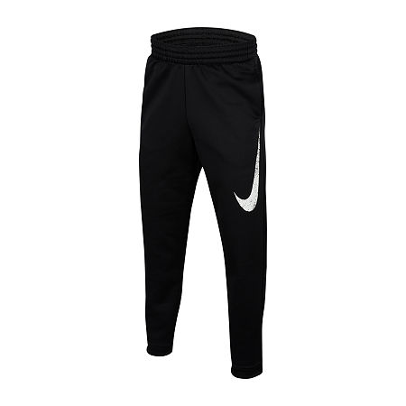 Nike Performance Fleece Big Boys Cinched Jogger Pant, Large , Black