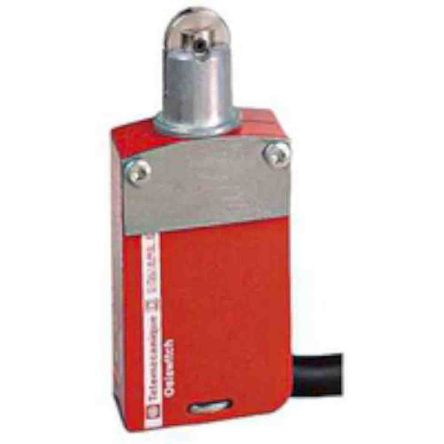 Telemecanique Sensors Preventa XCSM Safety Limit Switch With Roller Plunger Actuator, Zamak, 2NC/1NO