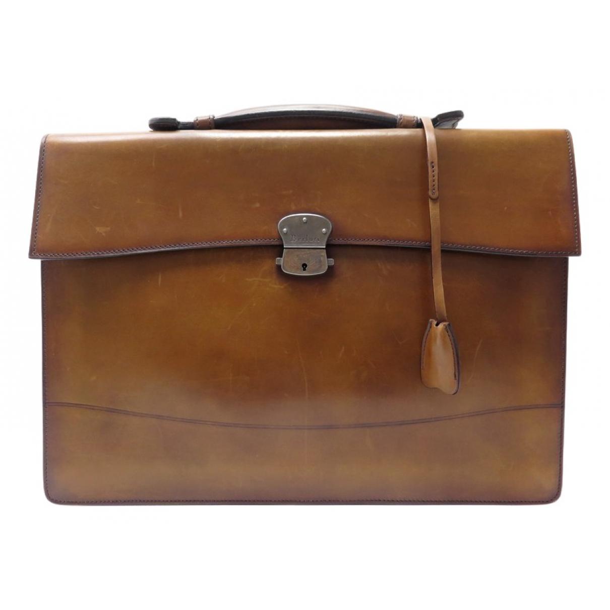 Berluti N Brown Leather handbag for Women N