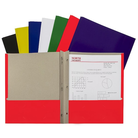 Assorted Colors Two-Pocket Paper Portfolio Folder With Prongs, Set Of 48 By C-Line Products   Michaels®