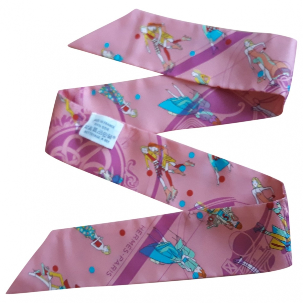 Hermès Twilly 86 Pink Silk scarf for Women \N