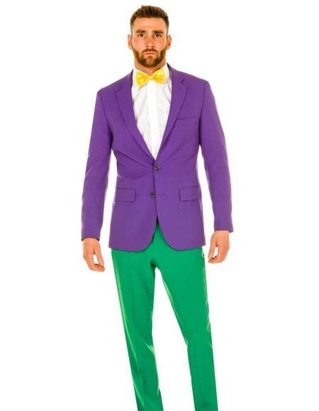 Men's Single Breasted 2 Button Notch Lapel Purple Tuxedo Suit