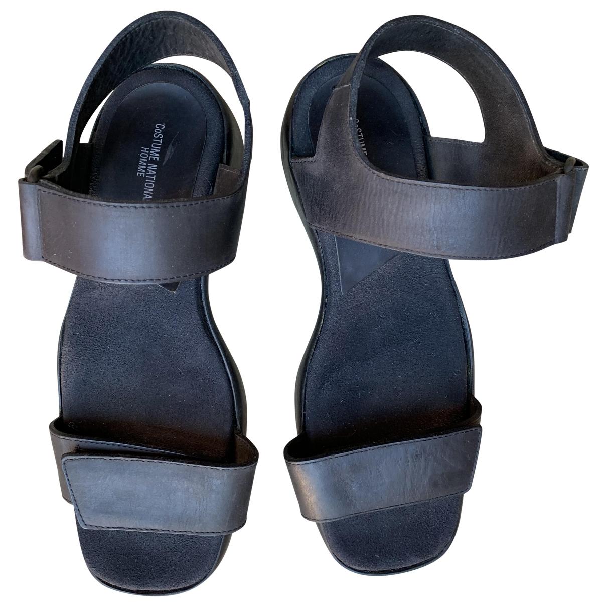 Costume National \N Black Leather Sandals for Men 10 UK