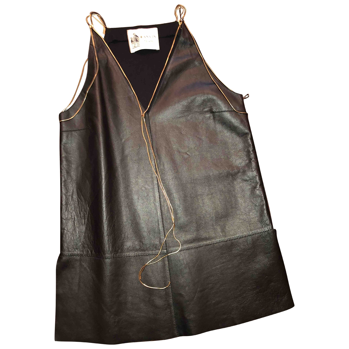 Lanvin \N Black Leather  top for Women 1 US