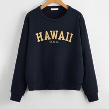 Letter Drop Shoulder Sweatshirt