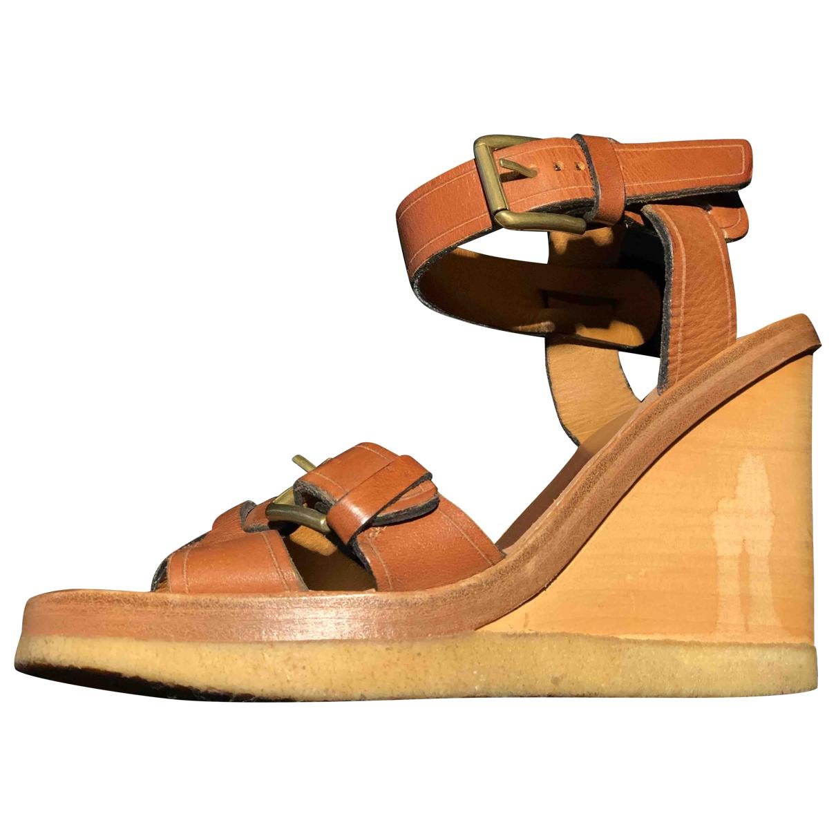 Isabel Marant - Sandales   pour femme en cuir - camel