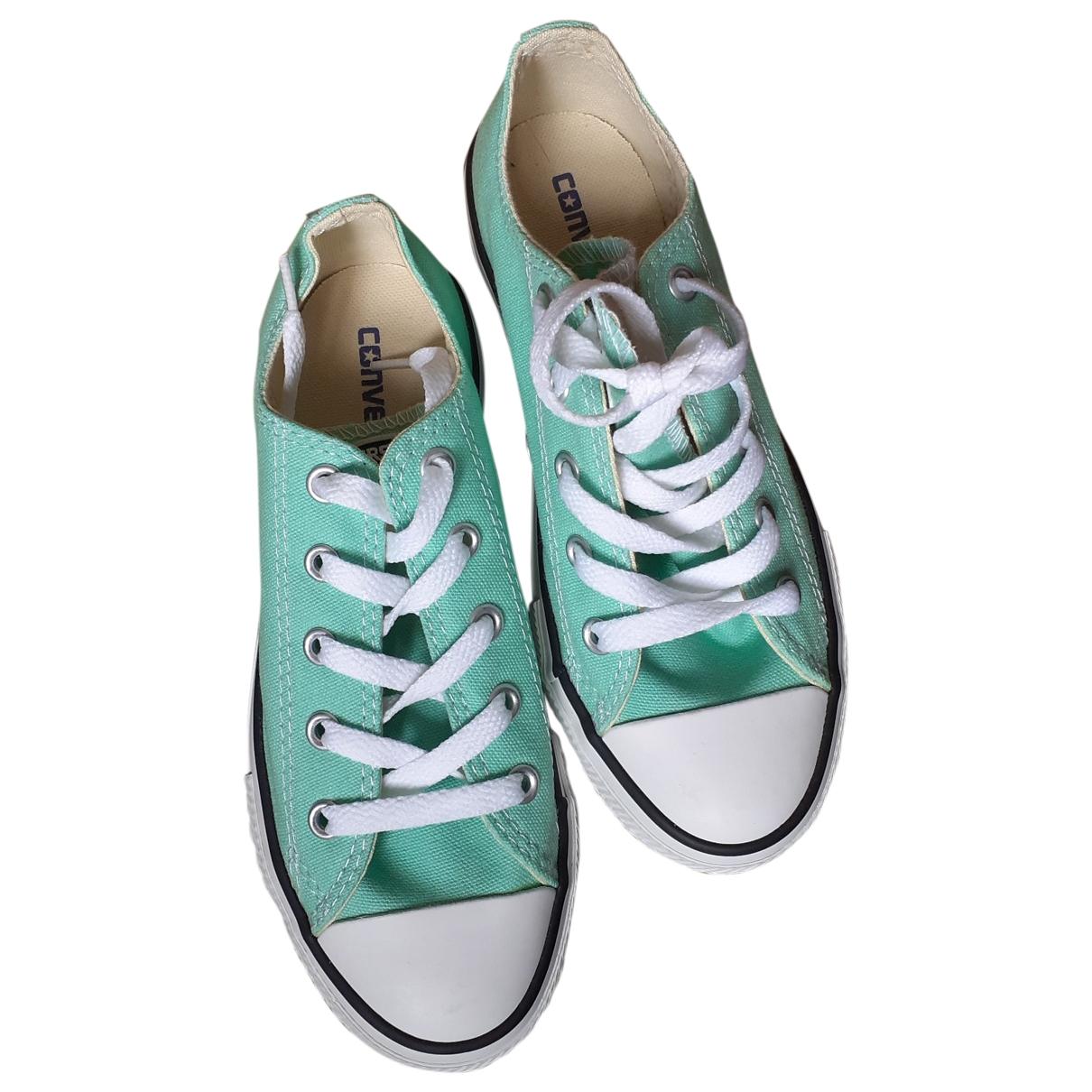 Converse \N Sneakers in  Gruen Leinen