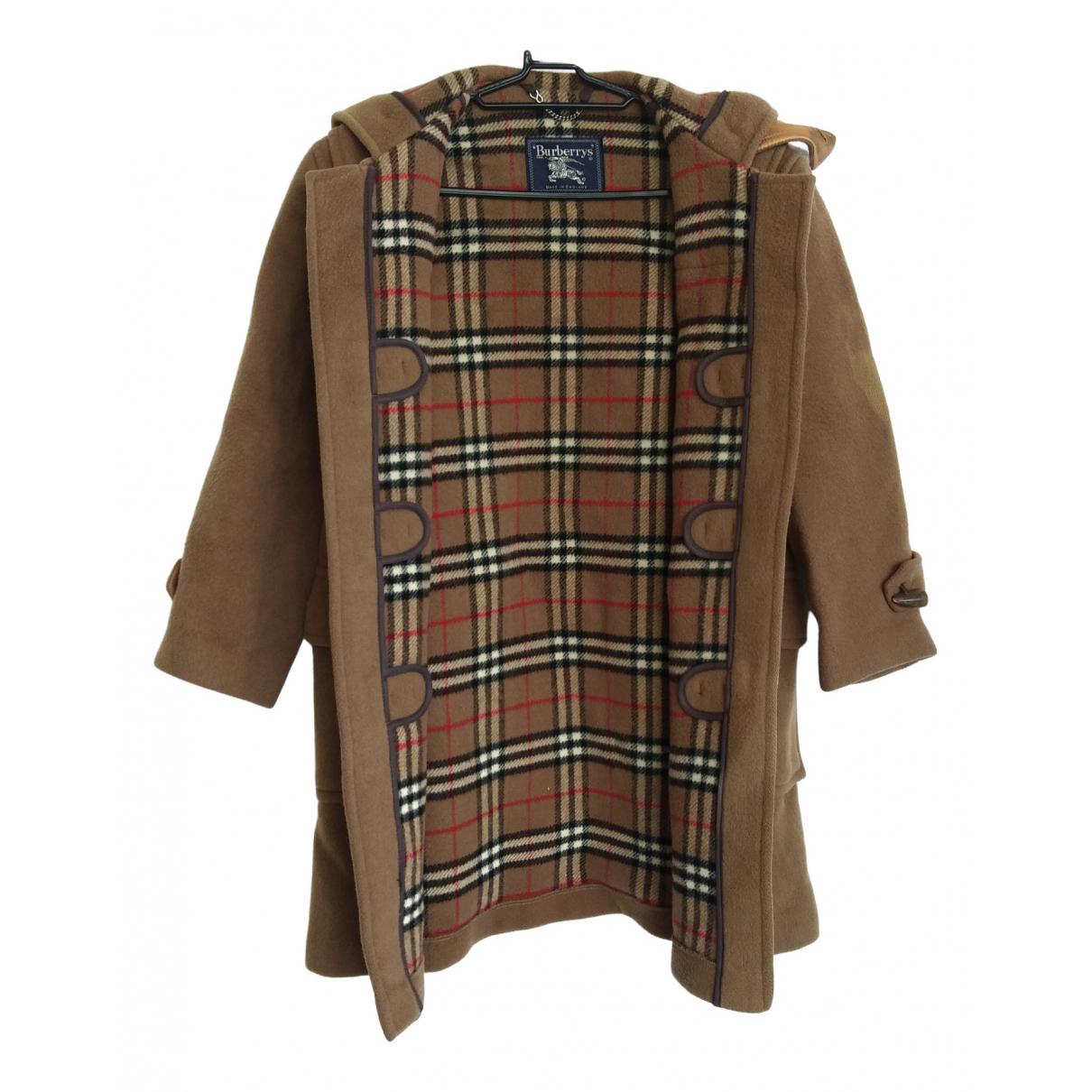 Burberry - Manteau   pour femme en laine - marron