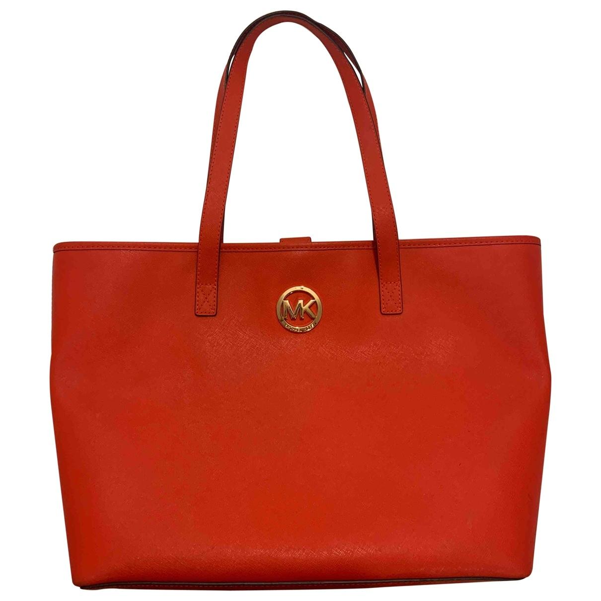 Michael Kors - Sac a main   pour femme en cuir - rouge